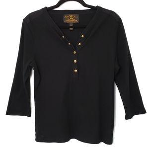 Lauren Ralph Lauren Unique Black Fall Knit…
